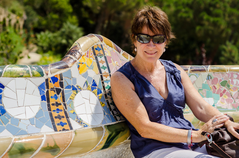 Heather of Amayz Mosaics Sunshine coast at Gaudi Park Barcelona