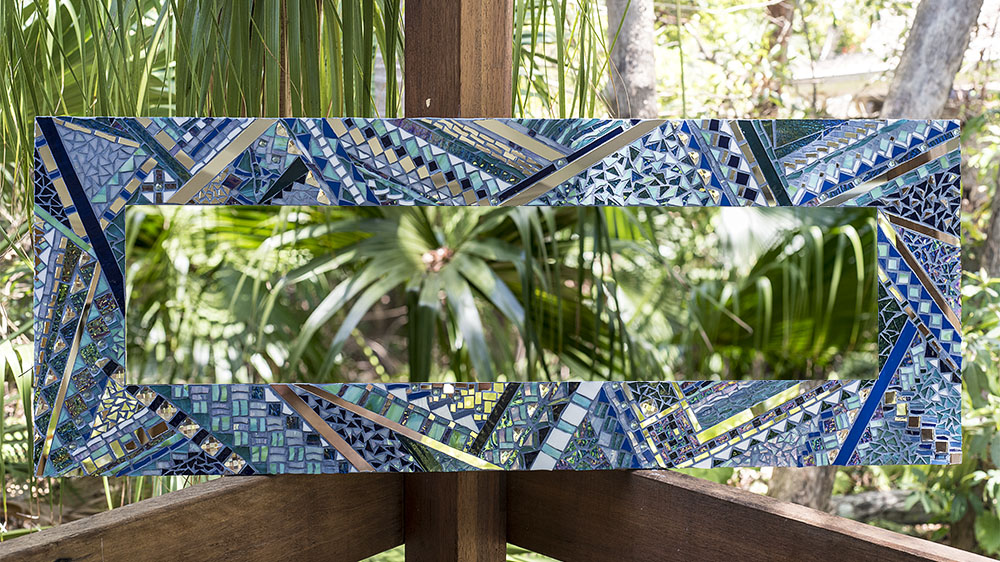 Mosaic mirror by Amayz Mosaics Sunshine Coast