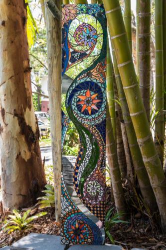 Garden art mosaic by Amayz Mosaics Sunshine Coast