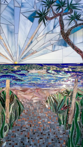 Beach Track mosiac by Amayz Mosaics Sunshine Coast