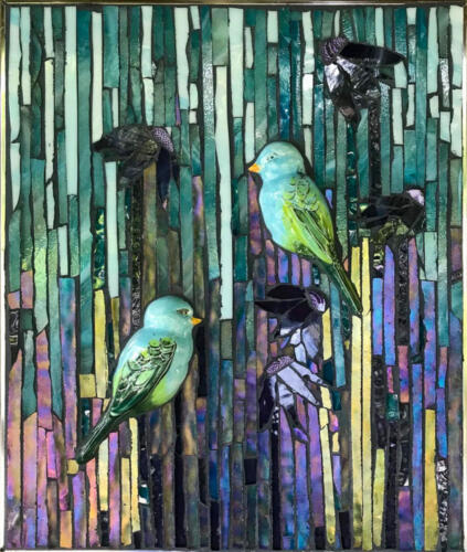 Rain Birds mosiac by Amayz Mosaics Sunshine Coast