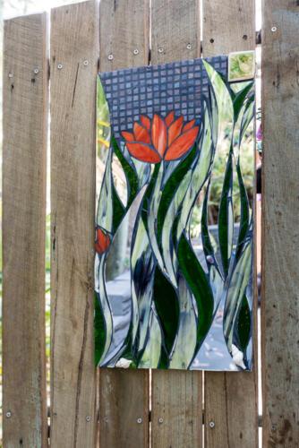 Lotus flower in glass mosaic by Amayz Mosaics Sunshine Coast