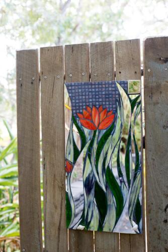 Lotus garden mosiac by Amayz Mosaics Sunshine Coast